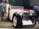 1932 MG F Type Magna Cream green mickey saperstein