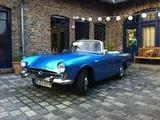 1965 Sunbeam Alpine Shiny Blue Elke and Hermann