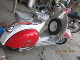 1962 Vespa VBB Standard 150 Red White Rob G