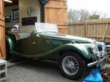 1953 MG TF Almond Green metalic neville mann