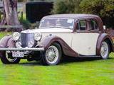 1936 MG SA Saloon Cream Brown leonard Grimwood