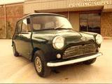 1962 Mini MkI Green W unionjackonroof Bob Lawrence