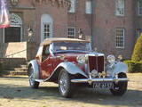 1950 MG TD Red Silver Albert Coppus