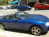 1999 Mazda MX 5 Electric Blue Lynn Montgomery