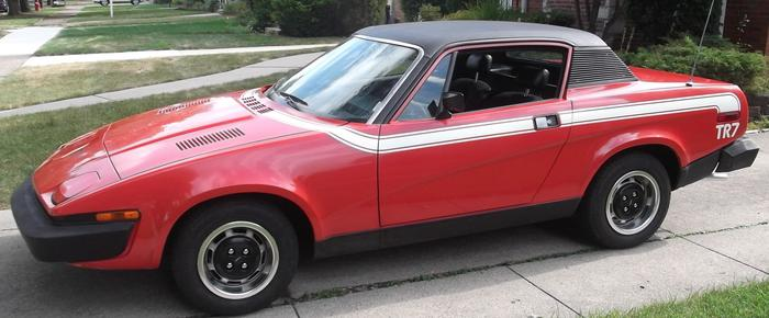 1976 Triumph Tr7 Victory Edition Acl18714u Registry The