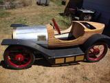 1921 CycleKart German Wood gloss Black red Pinstripe Don Nothwang c