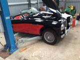 1953 Austin Healey 100 Red Over Black Gerry West