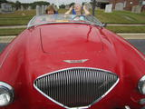 1953 Austin Healey 100 Red Dennis Conley