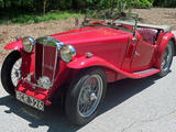 1937 MG TA Red Marty Shane