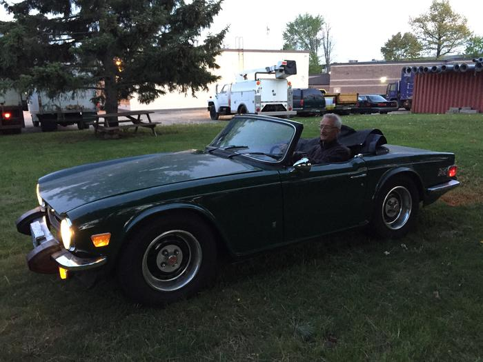 Hi torque starter with Advance Auto Wiring harness : TR6 ...
