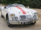 1956 MG MGA 1500 Old English White Jean camille Moreaux