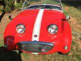 1959 Austin Healey Bugeye Sprite Red Bill Baddorf
