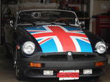 1975 MG MGB Dark Blue Peter Gittens