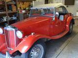 1952 MG TD MkII Red Donna Murgatroyd