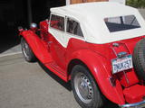 1952 MG TD RED Kathy Dorsey
