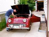 1958 Triumph TR3A Red Michael Baron