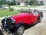 1950 MG TD Red Black Debra Schmidt