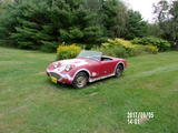 1958 Austin Healey Bugeye Sprite Red Lawrence Conti