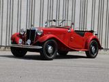 1950 MG TD Bordeaux Maroon Jeremy Sandler