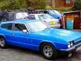 1976 Ford Reliant Scimitar Blue mick curry
