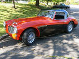1959 Austin Healey 3000 BT7 Orangey red W charcoal Marie B