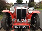 1937 MG TA Red Martin Lane