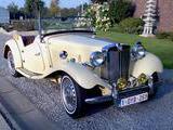 1952 MG TD Yellow Guy Das